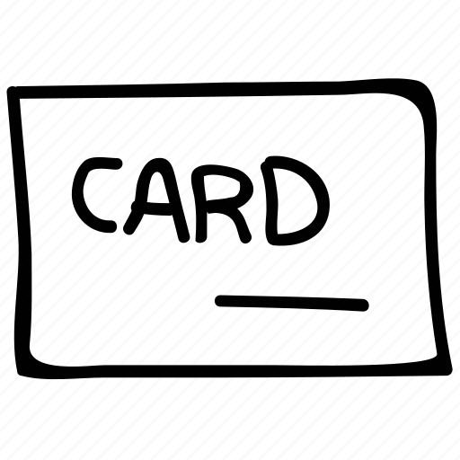business, card, financial, invitation icon