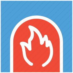 chimney, fire, fireplace, warm icon