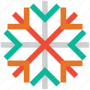 celebrations, christmas, decoration, snowflake icon