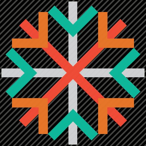 celebrations, christmas, decoration, snowflake icon