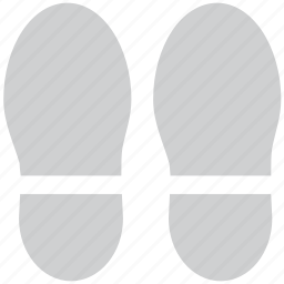 foot steps, hotel service, slippers, steps icon