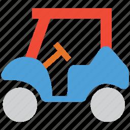 electric lifting car, golf car, golf cart, golf club icon