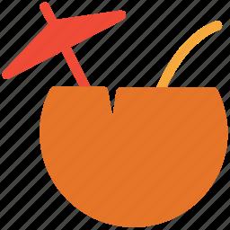 coconut drink, coconut juice, coconut water, healthful drink icon