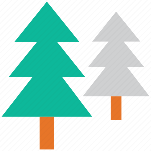 fir trees, generic trees, nature, trees icon