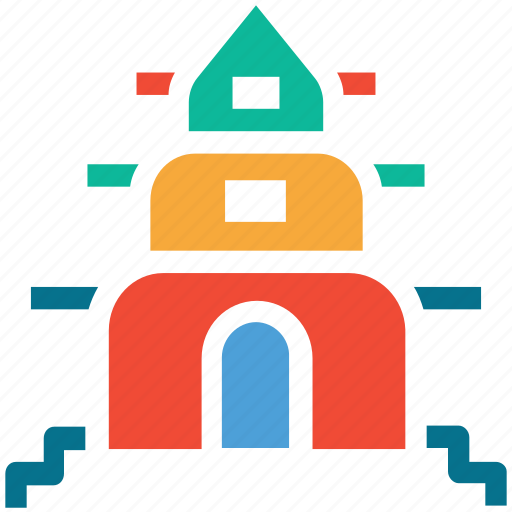 buddha, building, pagoda, temple icon