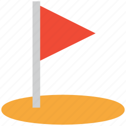 golf circle, golf club, golf flag, sports icon