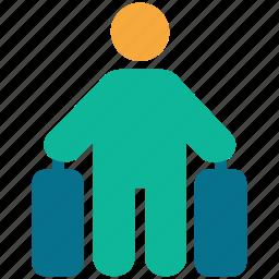 luggage, tourism, tourist, traveler icon