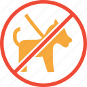 animal, dog, forbidden, pet icon