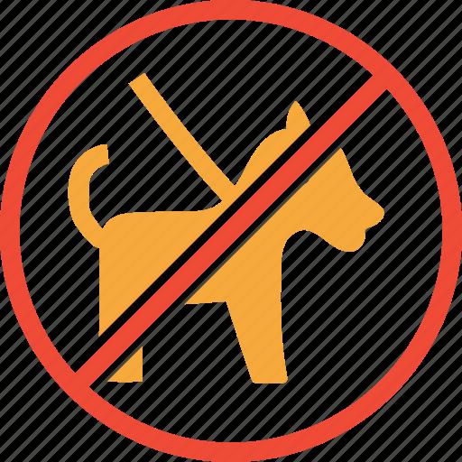 animal, dog, forbidden, pet icon