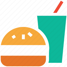 burger, drink, fastfood, junk food icon