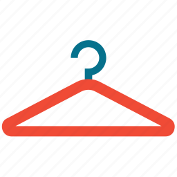 cloth hanger, hanger, laundry, suit hanger icon