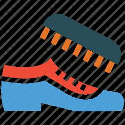 hotel service, service, shoe brush, shoe polish icon