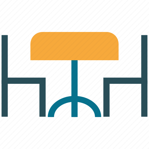 open air cafe, open air restaurant, restaurant, table and chairs icon