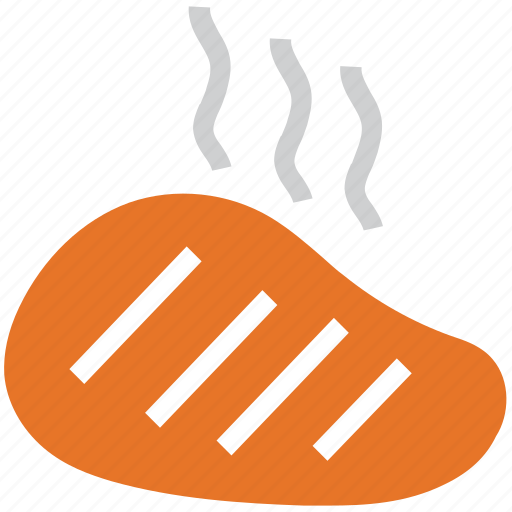 barbecue, bbq, grill, meat slice icon
