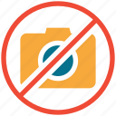camera, camera not allowed, no photography, photography restricted icon
