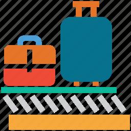 airport, airport custom, custom duty, travel icon