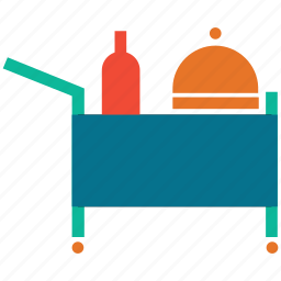 food serving, hotel, hotel service, room service icon