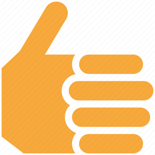 gesture, hand sign, ok, thumb up icon