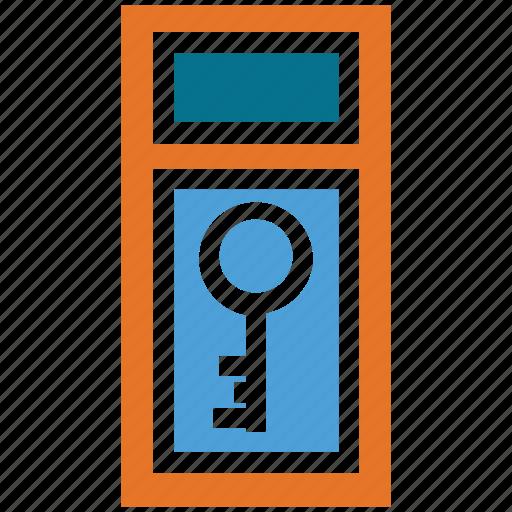 door key, key, safe, secure icon