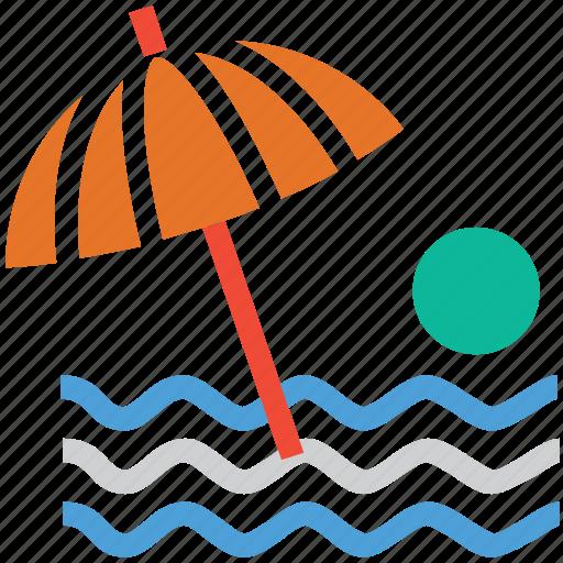 beach, sea, summer, vacation icon
