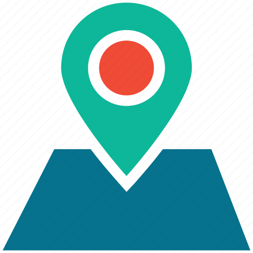 gps, location pin, locator, map icon