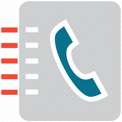 contact book, contacts, phone numbers, telephone directory icon