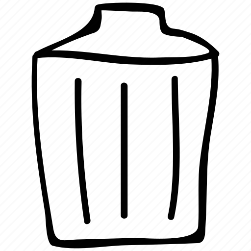 bin, dustbin, garbage container, trash icon