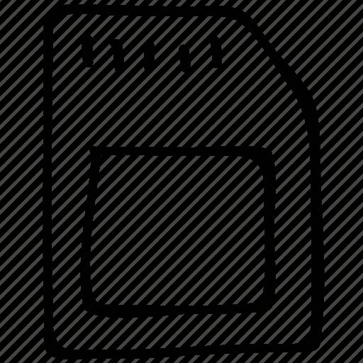 mobile, phone, sim, simcard icon