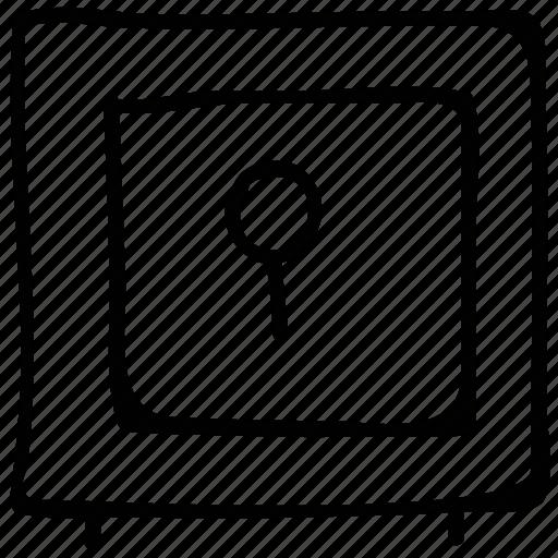 locked, locker, safe, safe box icon