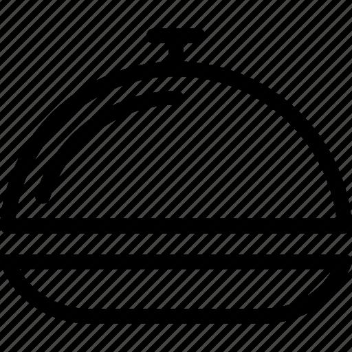 cloche, food, platter, restaurant, supper icon