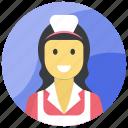 female waiter, hotel staff, stewardess, waiting staff, waitress