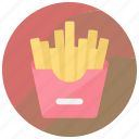 food, french fries, fries, fries box, potato fries icon