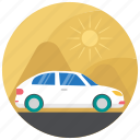 automobile, sedan, tourism, transport, travel icon
