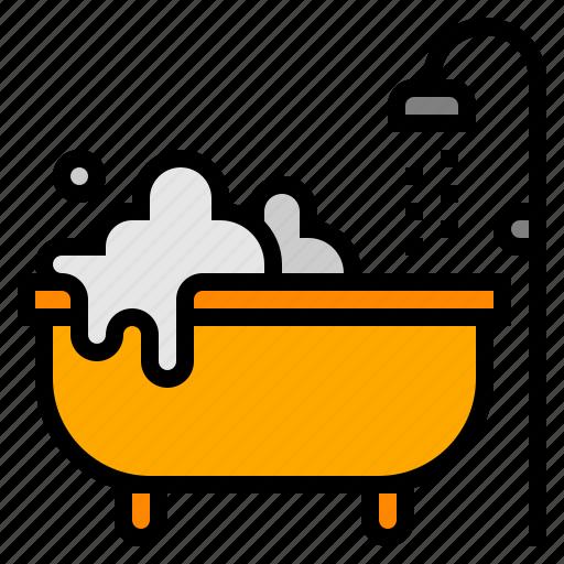 bathroom, bathtub, hotel, shower, spa icon