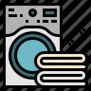 electronics, laudry, towel