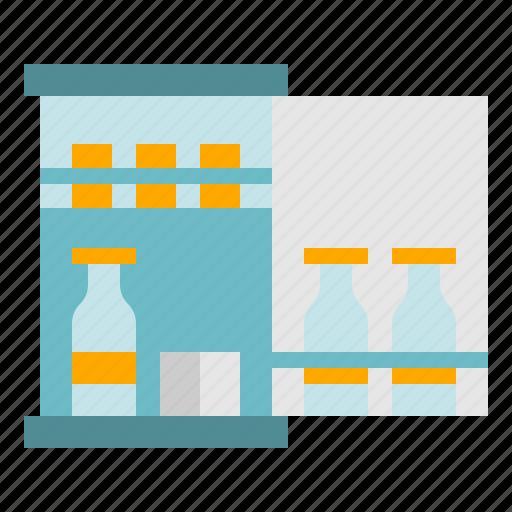drink, hotel, minibar, refrigerator icon