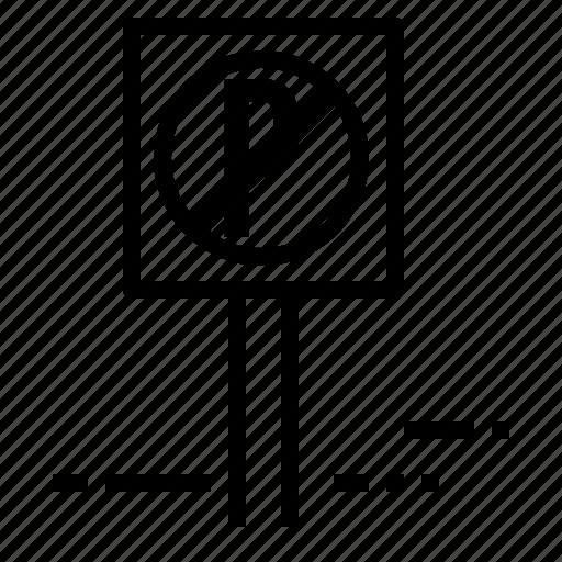 car, information, no, parking, road, sign, transport icon