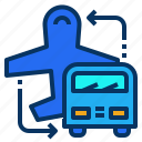 service, transportation, airport, shuttle, bus icon