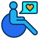 disable, facillities, guest, handicap, wheelchair icon