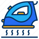 appliance, cloth, iron, laundry, steaming icon