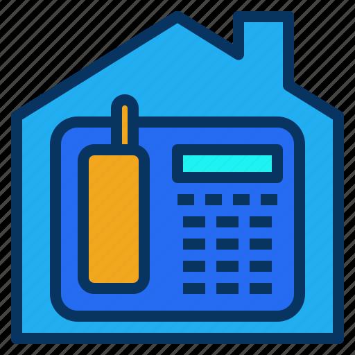 home, house, intercom, office, phone icon