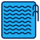 hotel, pool, sport, swimming, wave icon