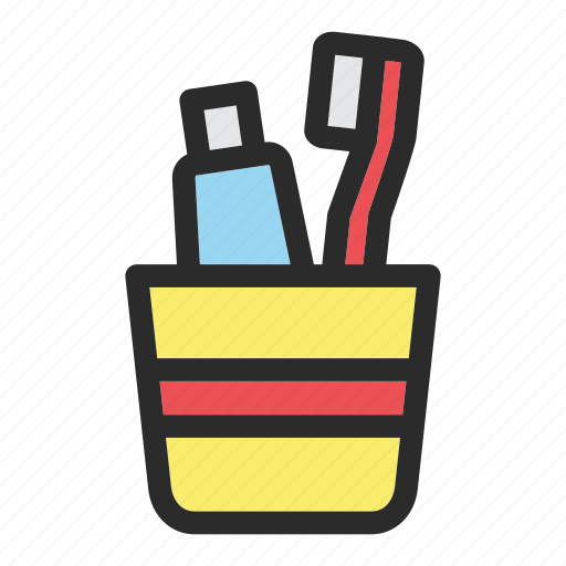 bathing, hotel, service, tool, toothbrush, toothpaste icon