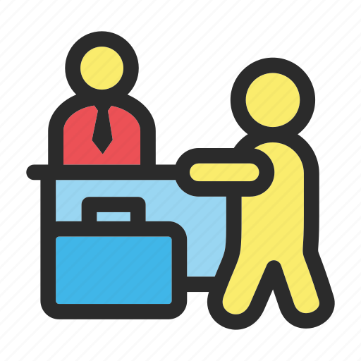 check, check-in, hotel, in, sign icon