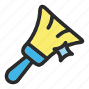 broom, clean, cleaning, hotel, services icon