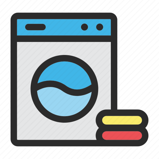 clean, cleaning, hotel, laundry, machine, washing icon