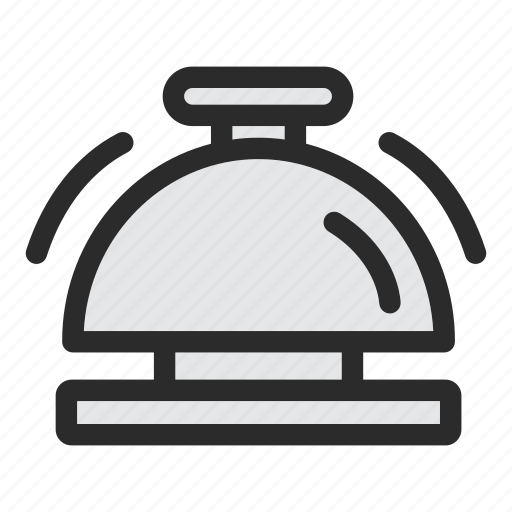 alarm, bell, hotel, service, support icon