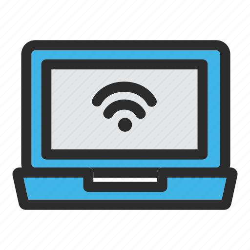 area, connection, hotel, internet, laptop, wifi, wireless icon