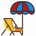 beach, chair, lounger, sunbed icon