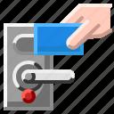 card, door, key, lock